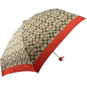 Coach Signature Mini Umbrella NEW